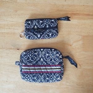 Vera Bradley. Matching wallet and make up bag.
